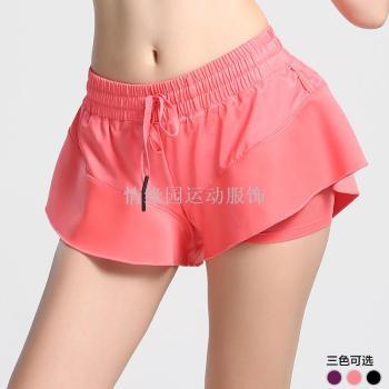 运动短裤女速干防走光跑步裙裤瑜伽沙滩裤马拉松五分健身裤