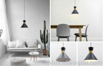 Nordic restaurant chandelier hotel bedroom headlamp real wood single head ML-C098.