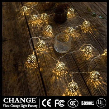 Manufacturers selling hot led battery lights string of iron ball creative day of Ramadan decoration lights string string