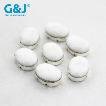 Hand-sewn dripping oil dripping rubber drill white K hand sewing diamond egg shape DIY wedding dress shoes accessories.