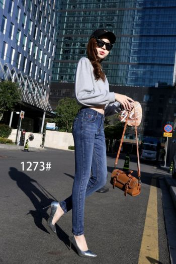 The new spring and autumn women jeans and trousers manufacturer direct spot wholesale repair body stretch.