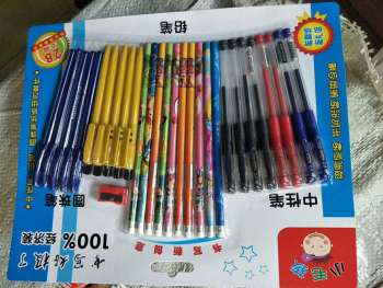 Creative cute bookmark neutral pen set 0.5mm black marker pen.