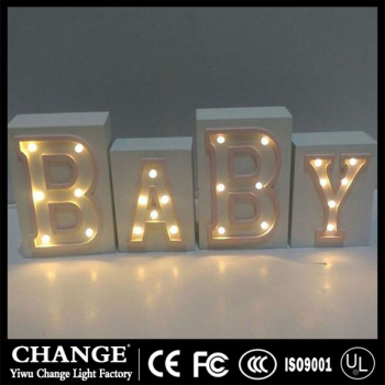 Factory direct sales LED letters light box battery candle lights home Christmas decorations lights