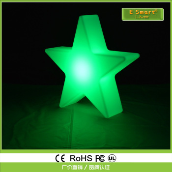 LED seven color luminescent star festival indoor and outdoor decoration LED remote control can charge pentagonal stars.