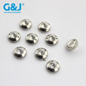 Diy point A drill  round light double - hole flat ABS electroplating drilling accessories hand sewing diamond wholesale.