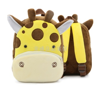 The new cute animal children's bag minus the double shoulder bag plush kindergarten early education backpack.