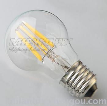 E27,4W, 6W transparent glass LED energy-saving lamp bulb.