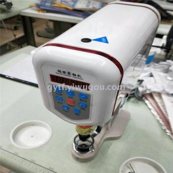 A semi-automatic button machine for sewing machine.