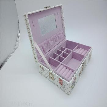 Portable jewelry box contracted large travel jewelry box earrings ear ring for ring to receive boxes.