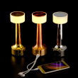 Service lamp creative cafe table lamp printing label led charging bar table lamp.