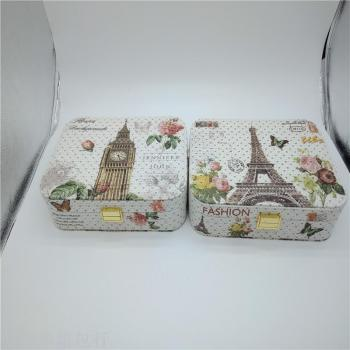 Portable jewelry box contracted large travel small jewelry box earrings ring ear ring to receive the box.