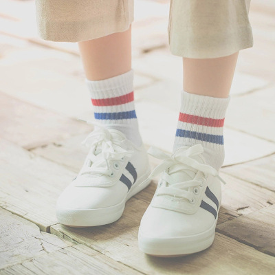 Spring and summer new cotton socks day department school wind 2 cotton socks female socks female socks.