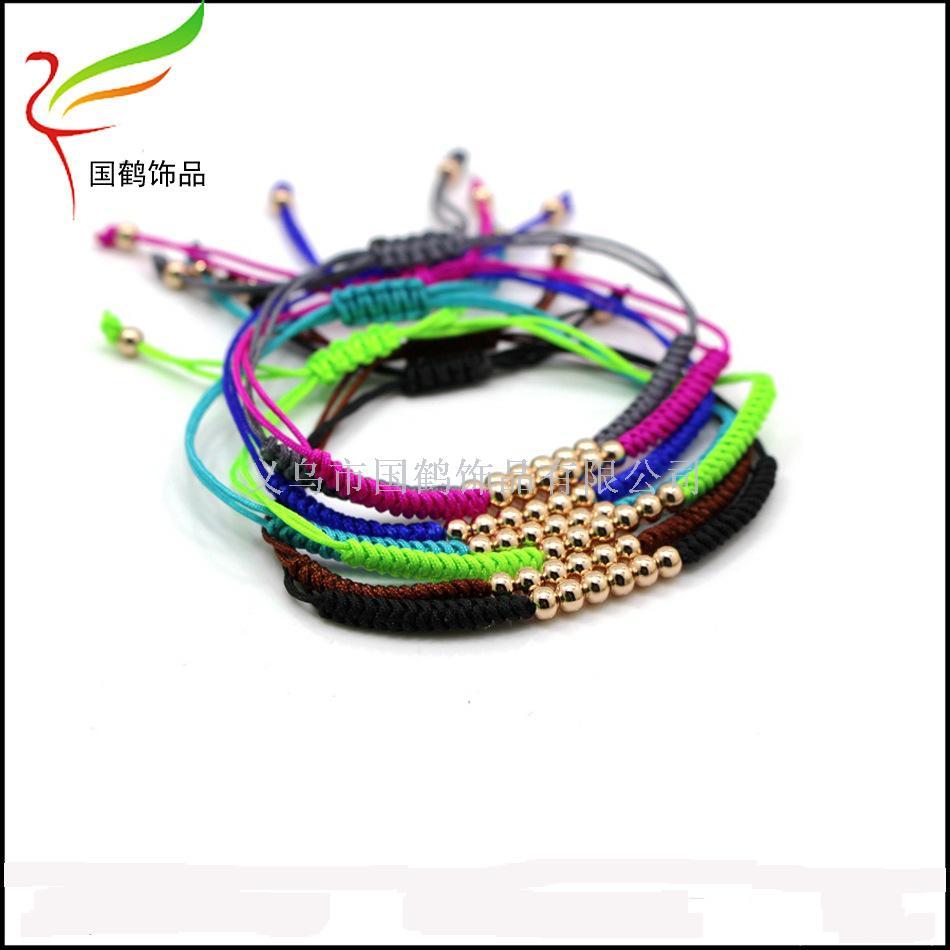 不锈钢珠子编织可调节手链_ 如意鹤饰品_ 义乌国际城