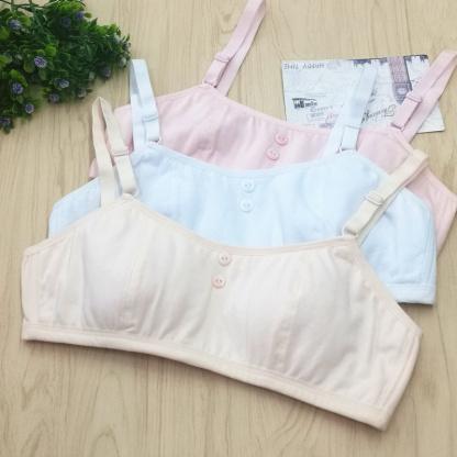 后排搭扣可调节细带少女文胸发育期 青春期女同学学生