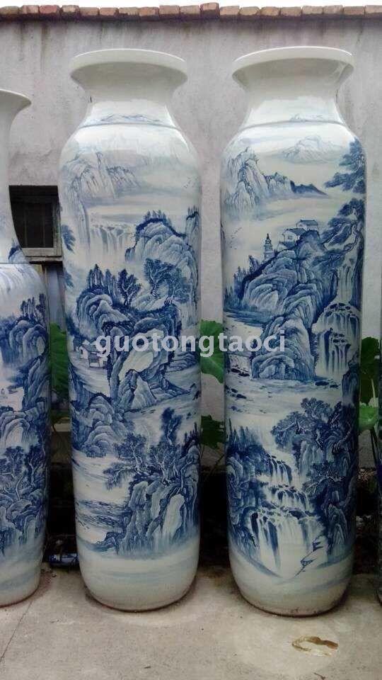 Supply Ceramic Vases Large Vases Floor Vases Jingdezhen Ceramic Crafts Home Furnishing Pieces Hand Painted Vase Living Room