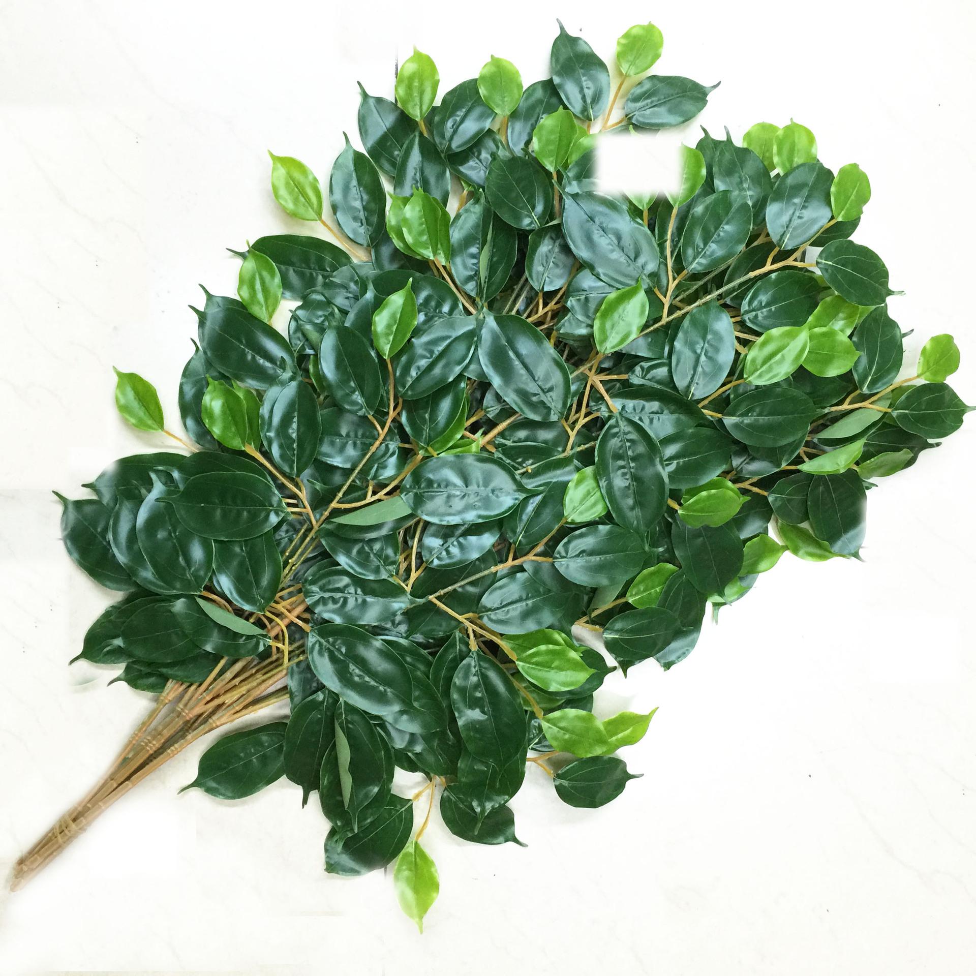 高达花厂仿真樟树叶叶仿真香樟树叶叶子园林装饰叶子假树叶工程用图片