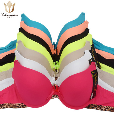 Thin section foreign trade lady V bra new leopard print edge cloth spot yiwu bra cross-border wholesale business.