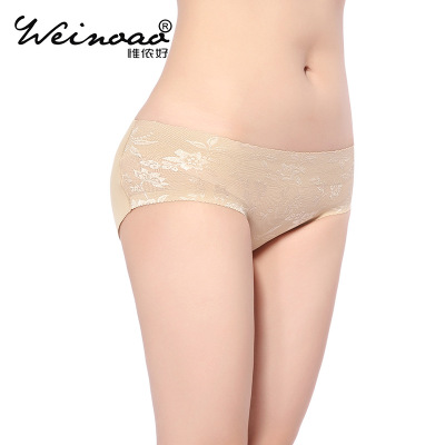 "Sexy lacy triangle underwear with no trace the add padding and buttocks and buttocks, buttocks low waist ""women 's underwear wholesale."