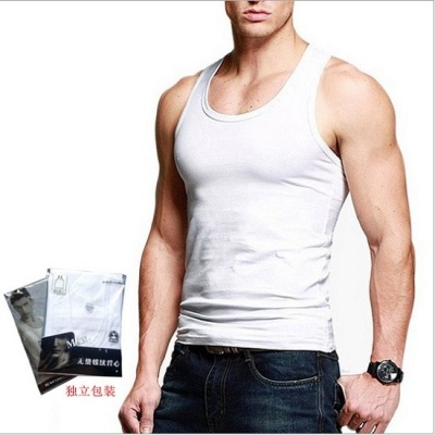 Taobao elastic cotton 9.9 men's vest foreign trade bodybuilding selling speed sell men's vest a replacement vest.