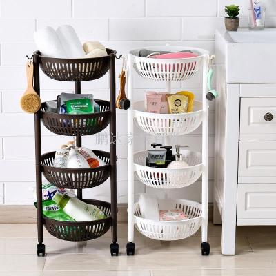 The Corner Shelf Of The Kitchen Rack Vegetable And Fruit Rack Can Move The  Rack And
