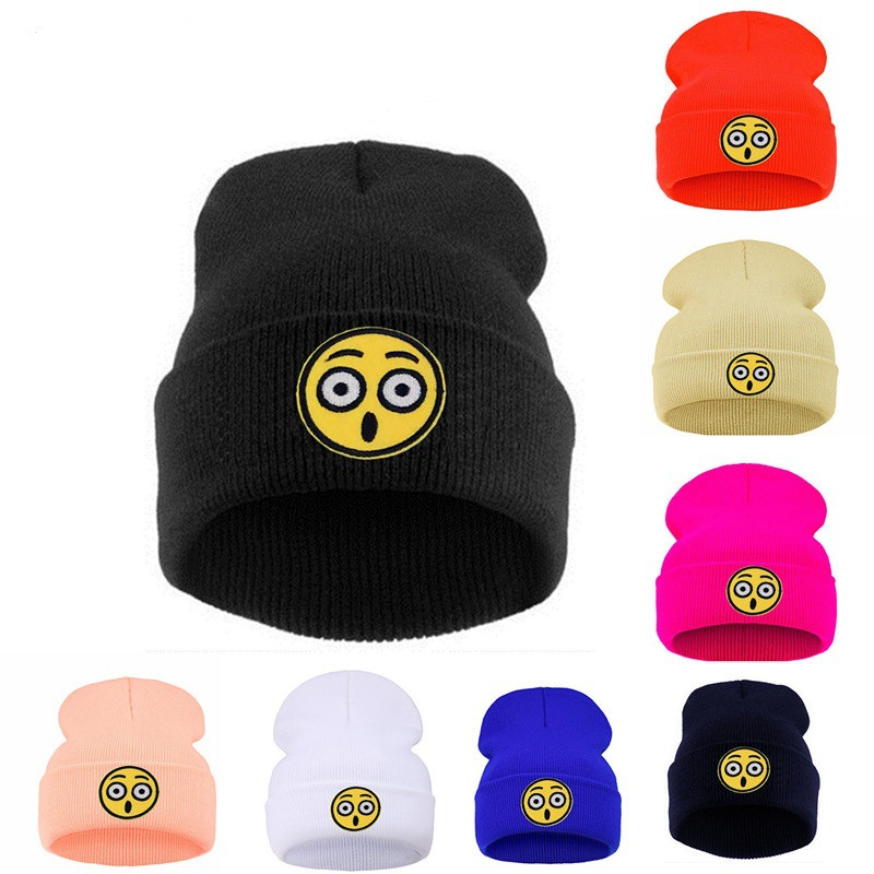 Qiu dong han version of the men and women  s hat QQ surprised expression  stickers 21ca8d31f04c