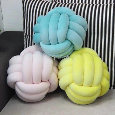 Danish INS net red same style Knot ball Knot pillow pure color cushion pillow sofa pillow creative China Knot.