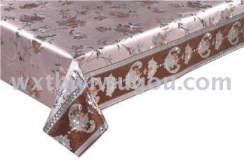 2018流行的PVC壓紋印花臺布 防寒防水防熱長方形桌布臺布