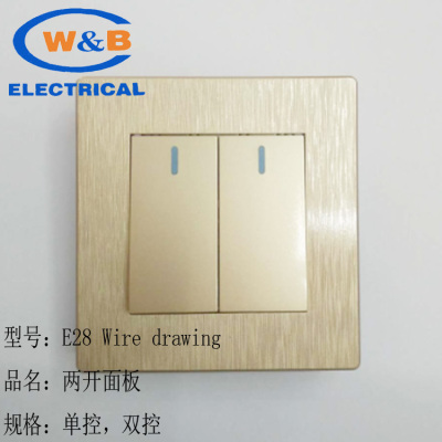 Supply Two open multi-function switch panel wall single control ...