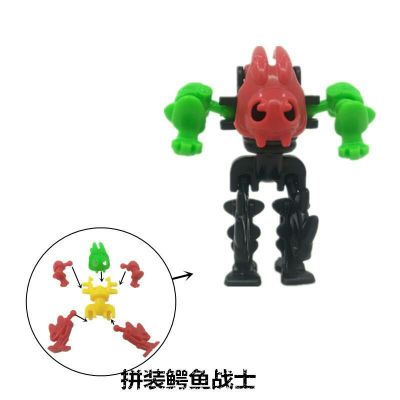 5.0-twist egg gift pack puzzle crocodile warrior small toy.