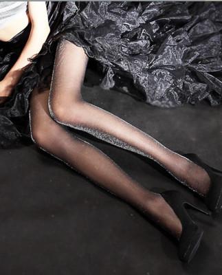 Spring and summer bright silk silver silver onion pantyhose thin anti snag Leggings stovepipe socks