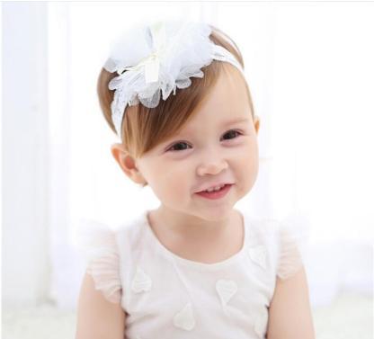 韩版新款儿童发饰婴儿发带发箍蕾丝花朵韩国可爱女童