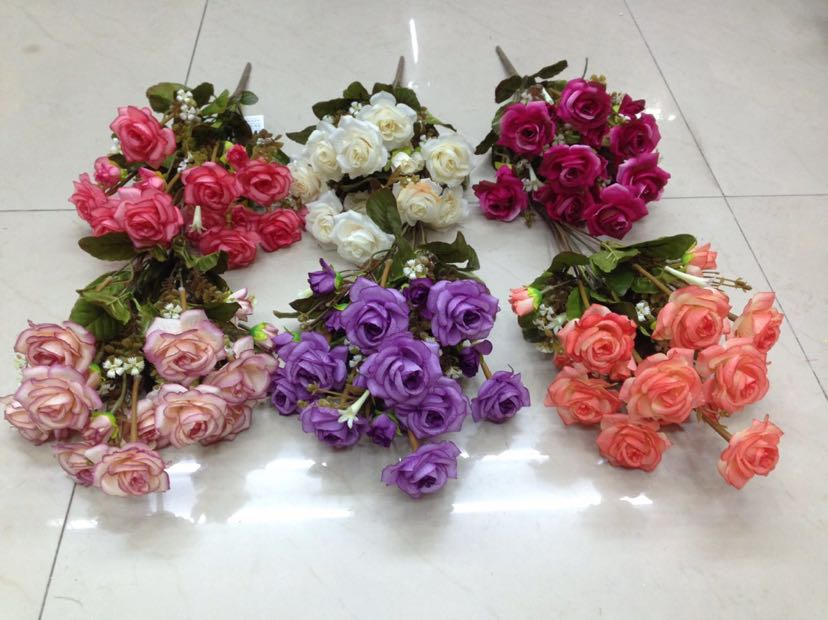 Supply Manufacturer Direct Sale Simulation Roses Wedding Bouquet