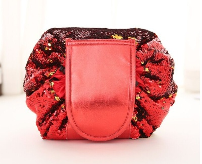 2018 Amazon Hot Sale Mermaid Reversible Sequin Makeup Bag Lazy Cosmetic Bag