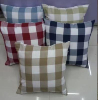 Charming Fashionable Big Plaid Sofa Cushion Car Protects Waist To Hold Pillow  Cushion.