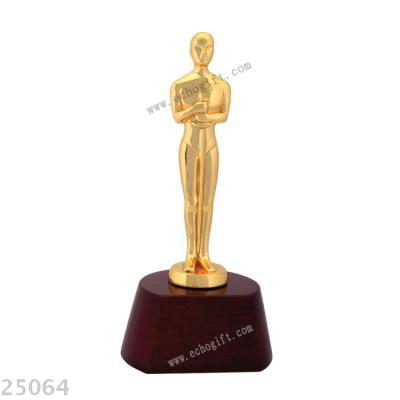 Oscar statuette metal cup custom wholesale music cup trophy activity cup gold-plated handicraft.