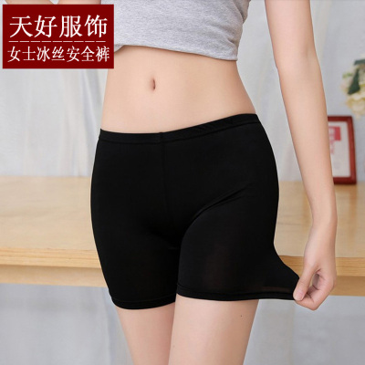 Spring and summer thin ice floss three - point safety pants women's wear pants lace trim pants.
