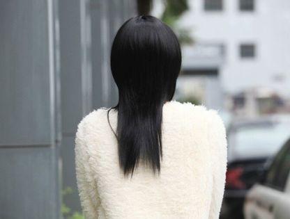 外贸热销 黑红渐变假发 时尚修脸齐刘海头饰 厂家直批