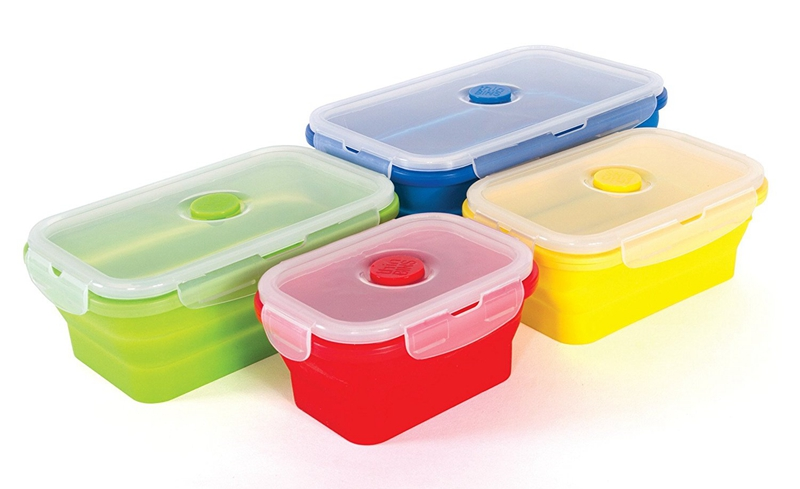 Folding Silicone Lunch Box Food Storage Container Kitchen Microwave Tableware Portable Household Outdoor Food box  sc 1 st  Yiwugo.com & Supply Folding Silicone Lunch Box Food Storage Container Kitchen ...