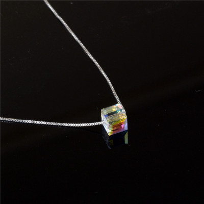 Swarovski crystal polar sugar necklace chain.