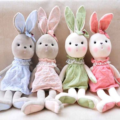 Funny Adorable Animal Super Cheap Best Quality Plush Bala Rabbit Toy For Girls