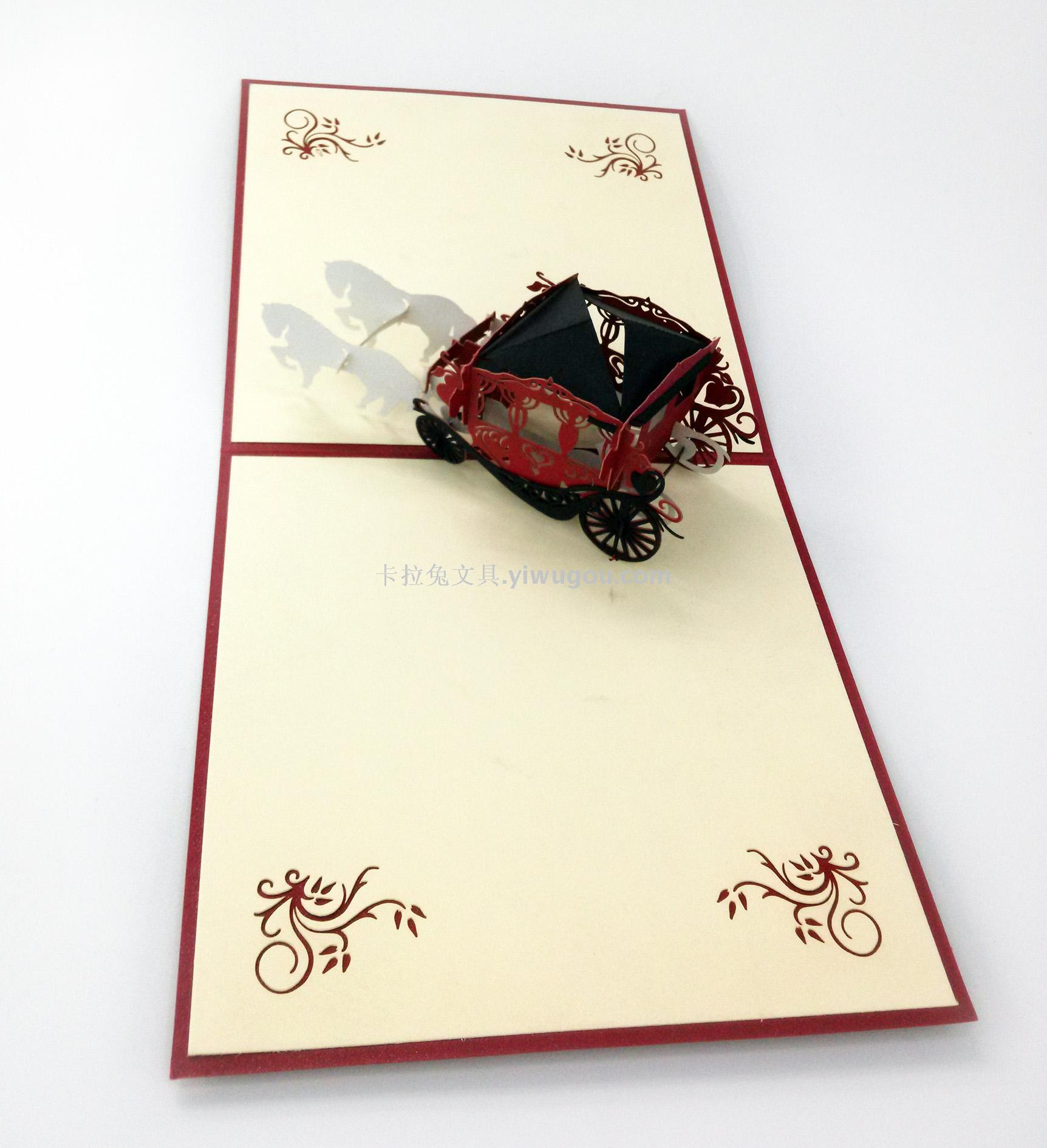 Supply Wedding Greeting Card 3d Hand Made Paper Carving Creative