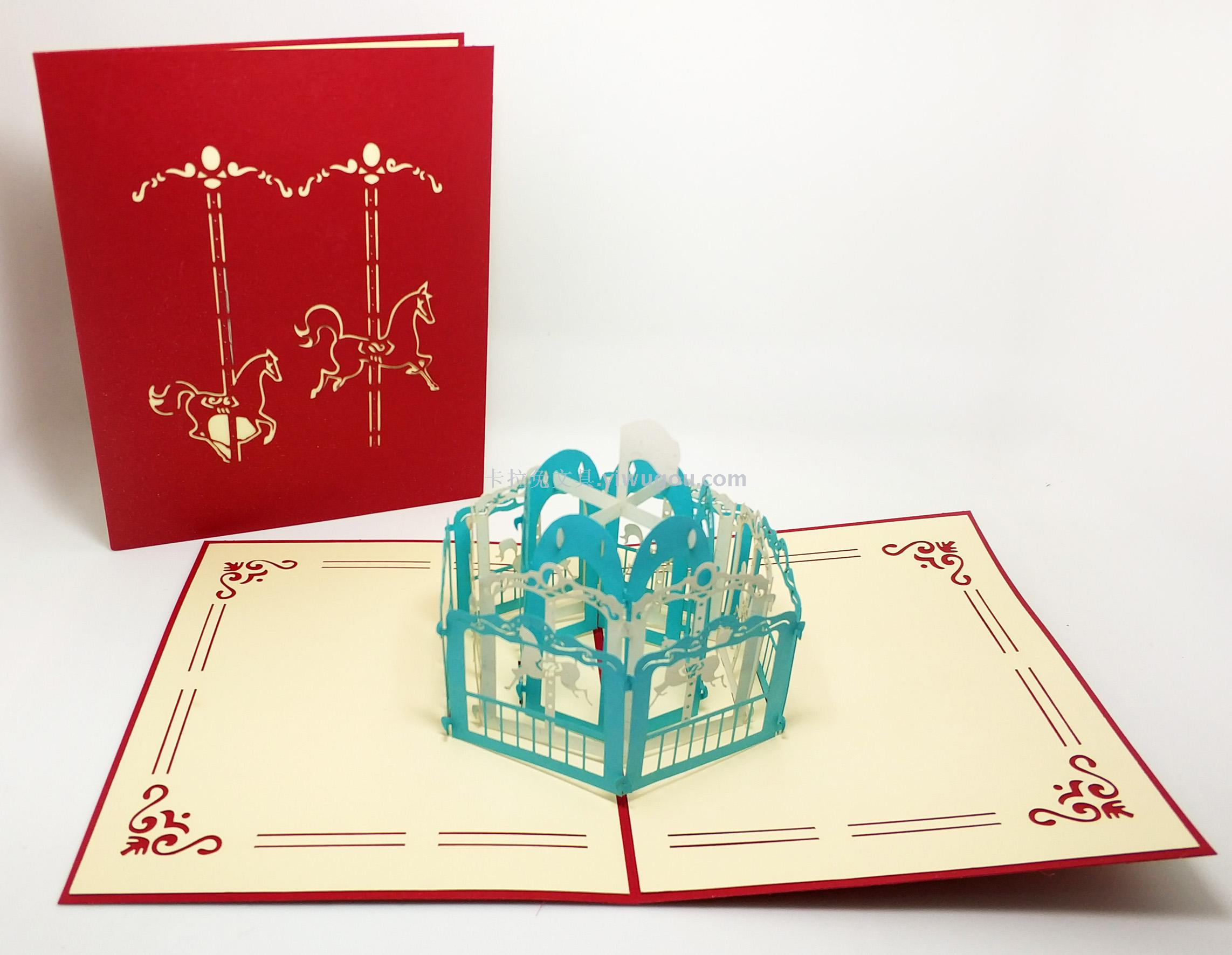 Supply 3d Card Handmade Card Holiday Card Customised Wholesale