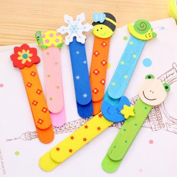 创意可爱卡通儿童木制书签学习文具用品幼儿园生日礼物小学生奖品