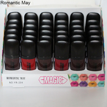 Romantic May渐变不沾杯六色唇彩持久不掉色保湿防水气垫液体口红