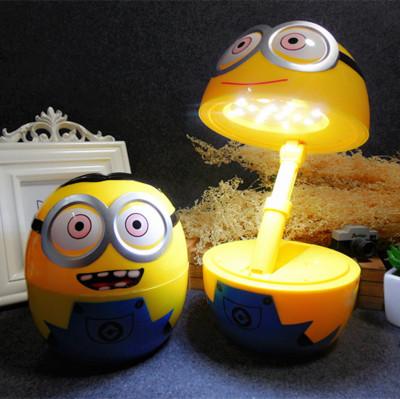 Q Version Minion Rechargeable Desk Lamp God Steals Fatheru0027s LED Lamp Lamp  Energy Saving Eye Cartoon ...