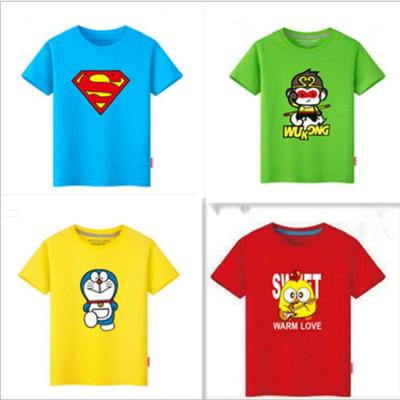 Cotton children's short sleeved 6one summer boys and girls cartoon T-shirt Korean version can be customized design