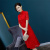 In the spring of 2018, the new original a-line dress of the dress is the red cheongsam.