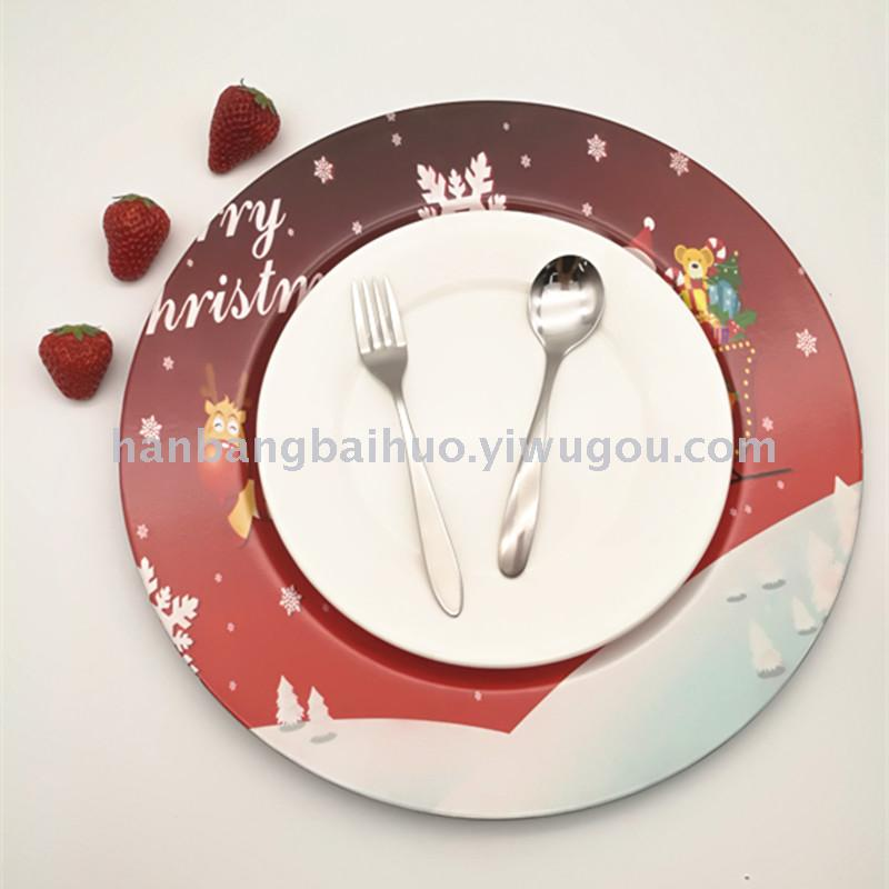 plastic plates on christmas plates round plates on fashionable european table mats - Christmas Plastic Plates