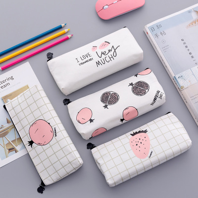 Creative cute cartoon fruit pencil bag study stationery student award pencil bag children's small gifts.