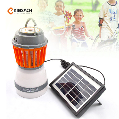 2018 new outdoor household lighting waterproof mosquito lamp electric shock mosquito lamp with solar panel